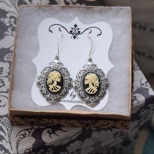 Cameo Earrings Skull Boho Glam